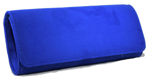 Cartera tapa lisa azul