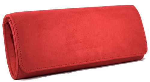 Cartera tapa lisa roja