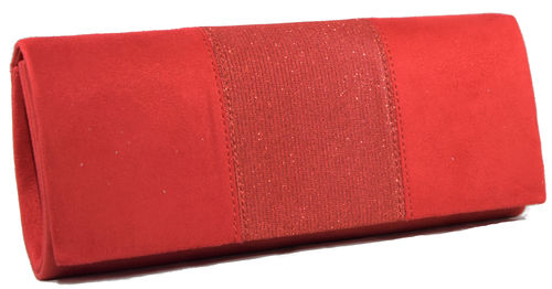 Cartera tapa brillo roja