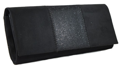 Cartera tapa brillo negro